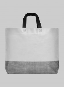 einkaufstasche shopper 2 farbig hellgrau schwarz 44 x 30 cm