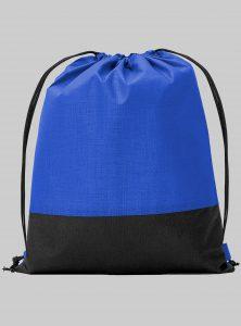 Turnbeutel Zweifarbig Blau Schwarz 34 x 42 cm