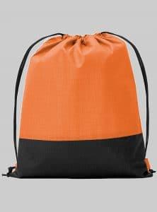 Turnbeutel Zweifarbig Orange Schwarz 34 x 42 cm