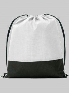 Turnbeutel Zweifarbig weiss Schwarz 34 x 42 cm