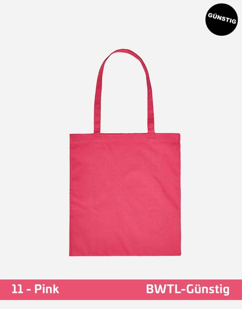 baumwolltasche guenstig lange henkel pink