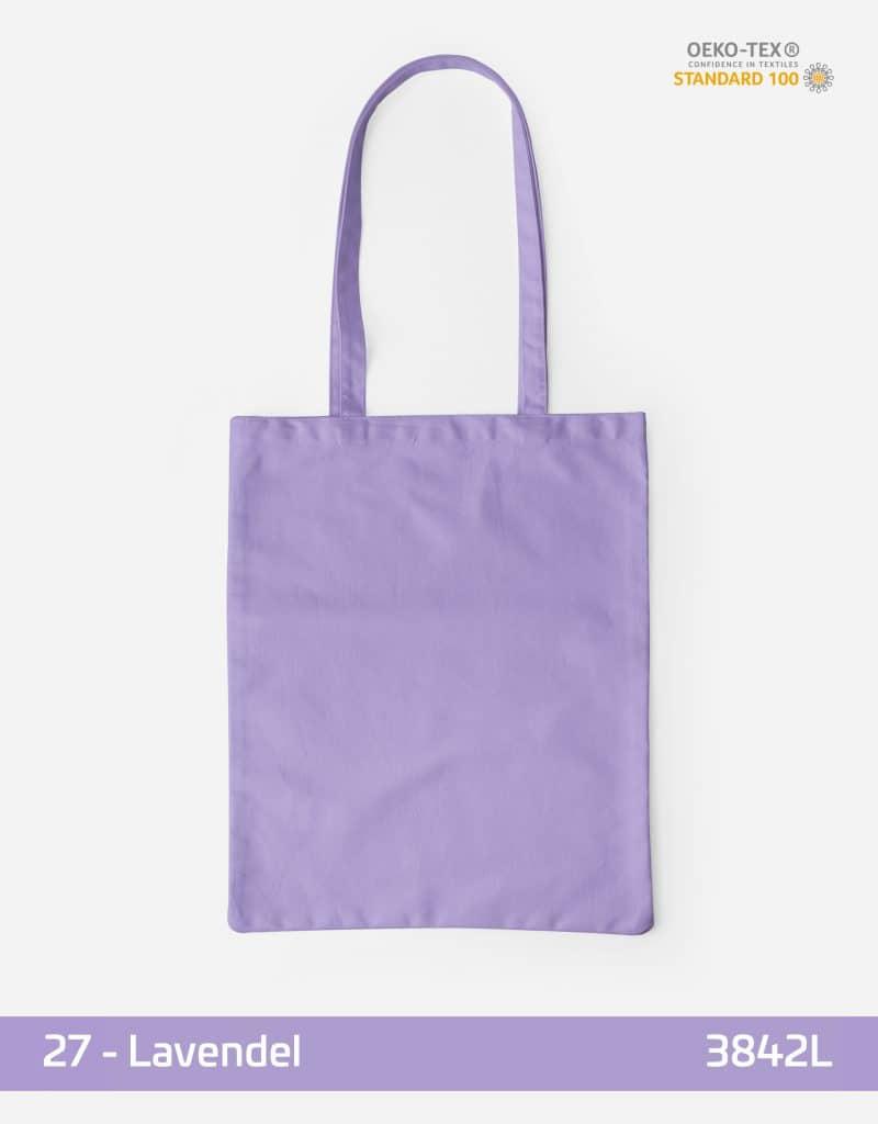 Baumwolltasche Lavendel lange Henkel 38x42cm