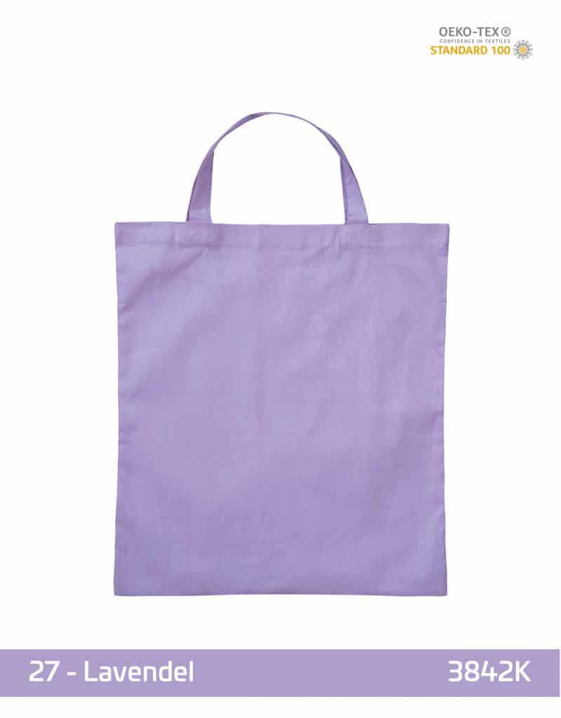 baumwolltasche lavendel kurze henkel 38x42 cm