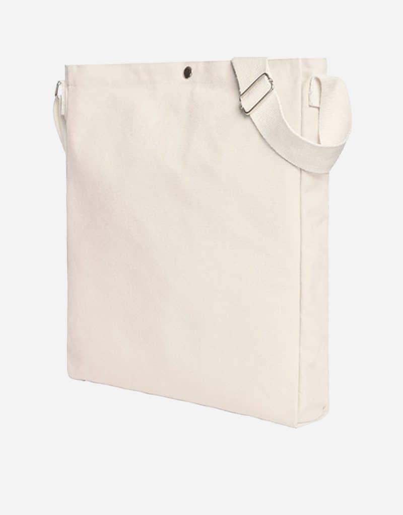 Gradliniger Shopper mit laengenverstellbarer Baumwoll-Schultergurt 32 x 38 x 5 cm natur