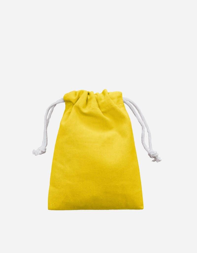 Zuziehbeutel aus Baumwolle Gelb XS 10 x 14 cm