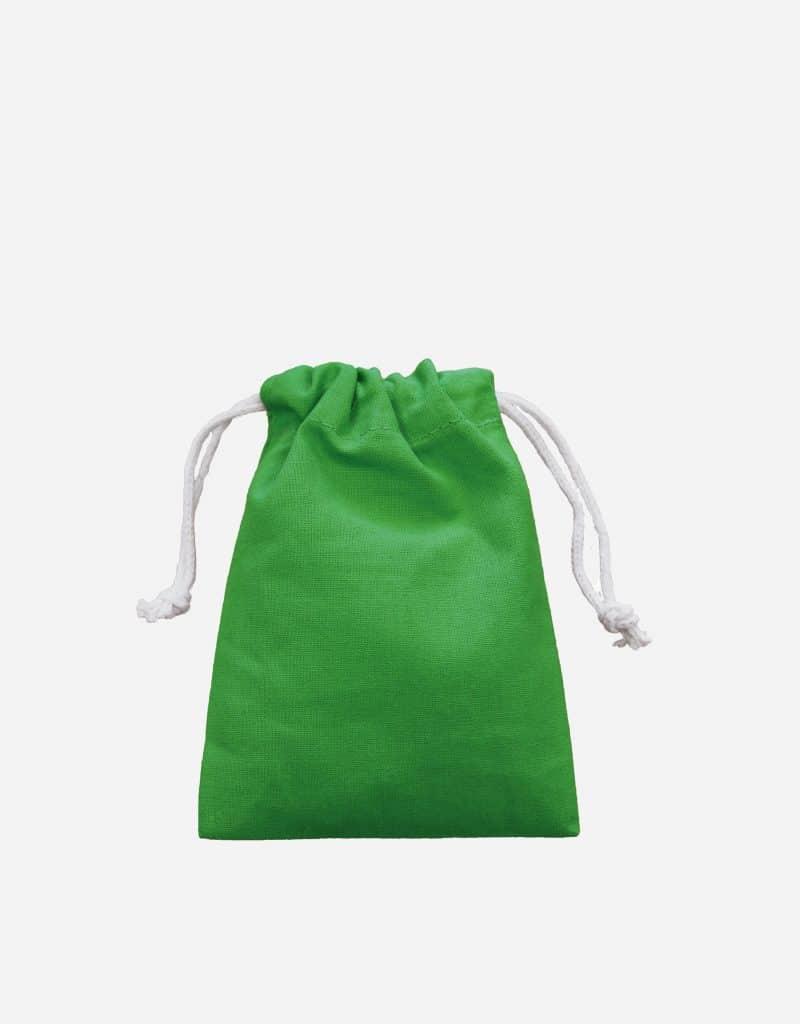 Zuziehbeutel aus Baumwolle Maigrün XS 10 x 14 cm
