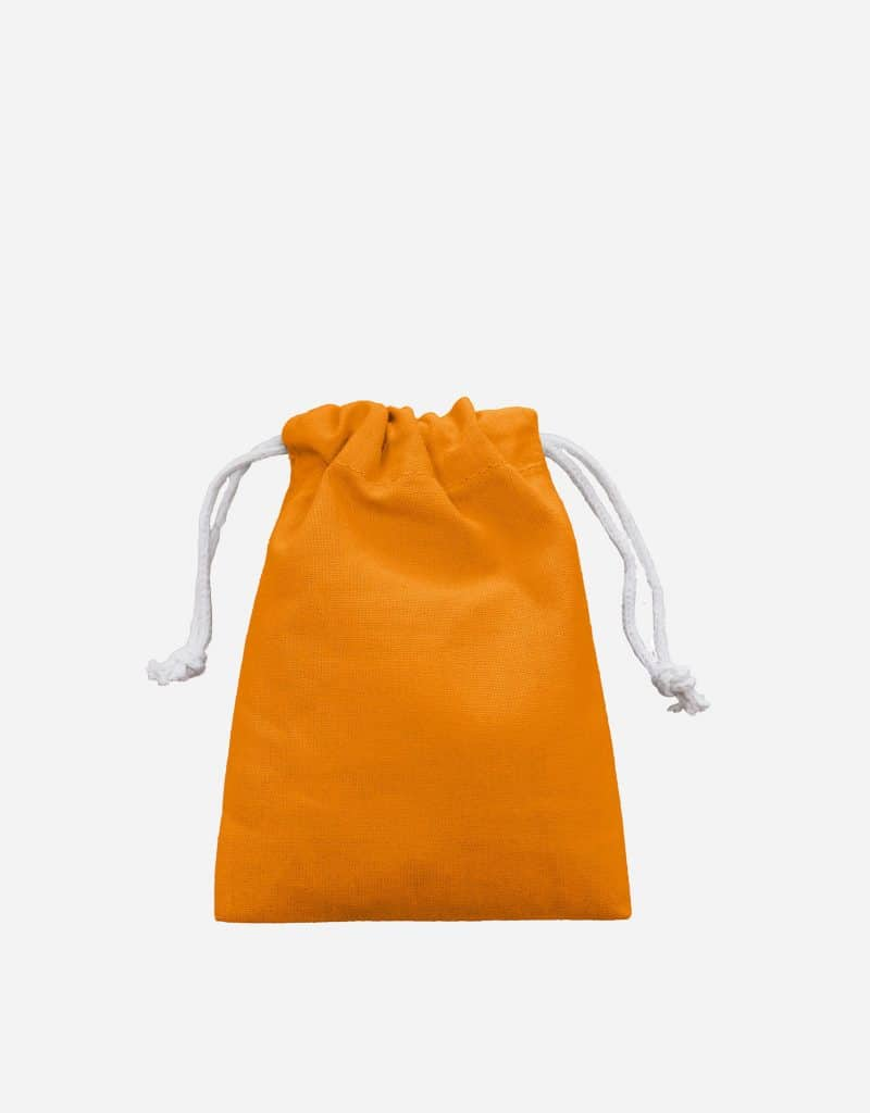 Zuziehbeutel aus Baumwolle Orange XS 10 x 14 cm