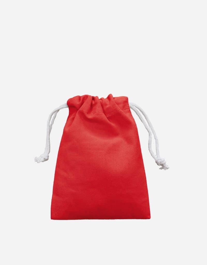 Zuziehbeutel aus Baumwolle Rot XS 10 x 14 cm