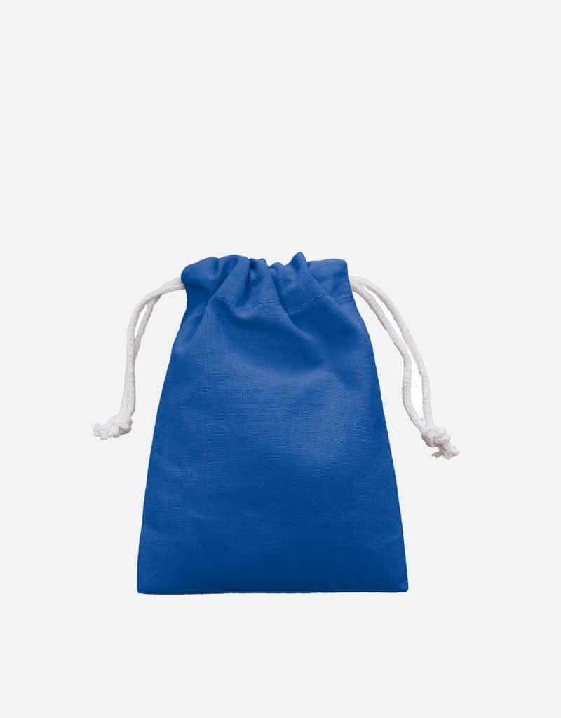 Zuziehbeutel aus Baumwolle Royalblau XS 10 x 14 cm