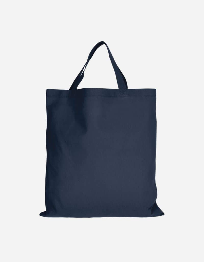 baumwolltasche basic mit zwei kurze henkeln 38 x 42 cm dunkelblau