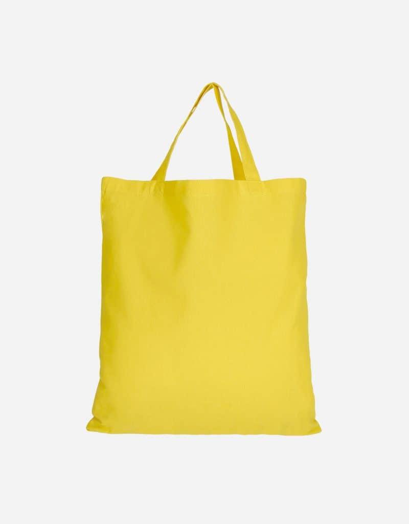 baumwolltasche basic mit zwei kurze henkeln 38 x 42 cm gelb