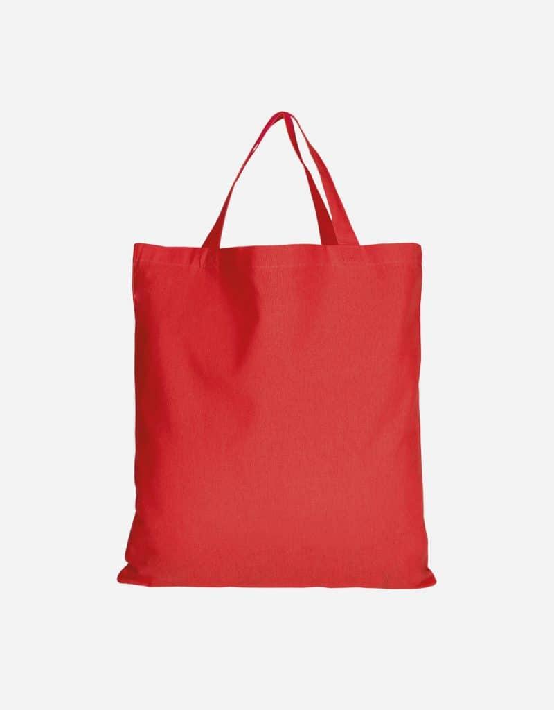 baumwolltasche basic mit zwei kurze henkeln 38 x 42 cm rot