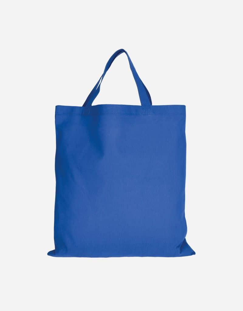 baumwolltasche basic mit zwei kurze henkeln 38 x 42 cm royalblau