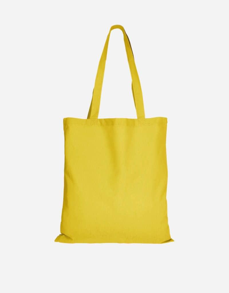 baumwolltasche basic mit zwei lange henkeln 38 x 42 cm gelb