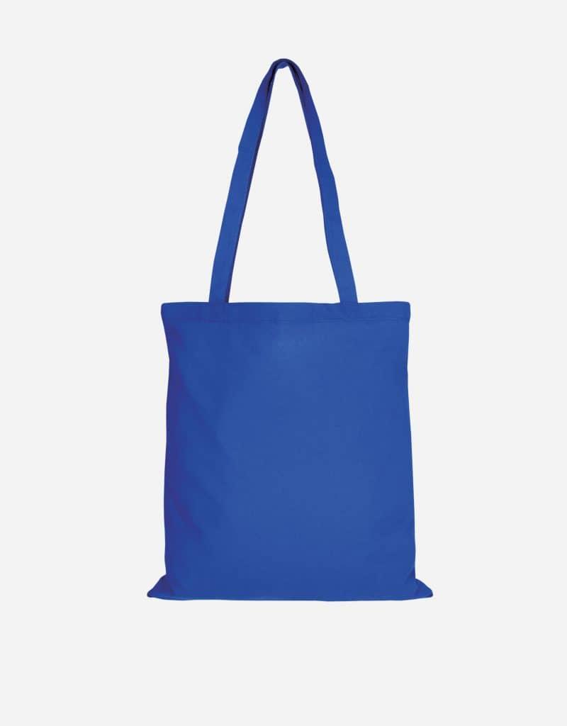 baumwolltasche basic mit zwei lange henkeln 38 x 42 cm royalblau