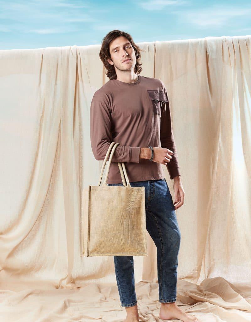 jutetasche boutique shopper 36 x 42 x 17 cm natur vorschau