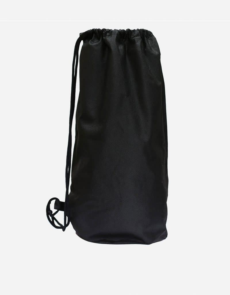 matchbeutel aus polypropylen mit rund eingesetztem boden 40 x 54 cm schwarz
