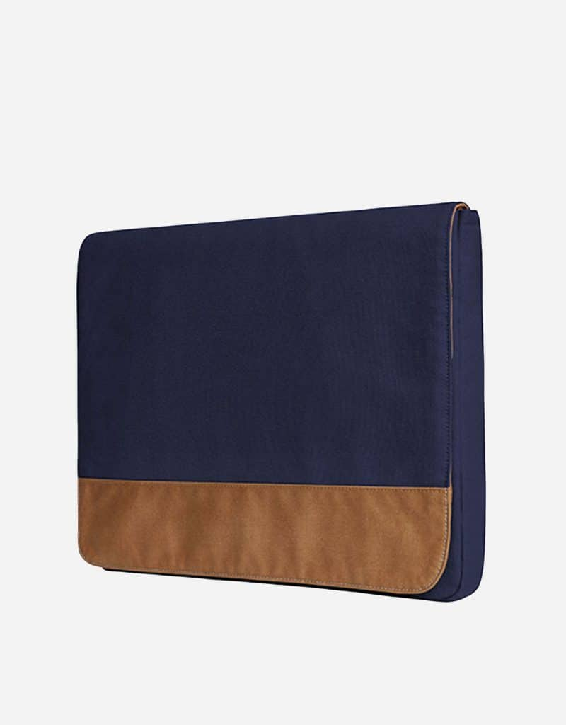 messenger bag mit magnet verschluss 39 x 29 x 3 cm navy brown