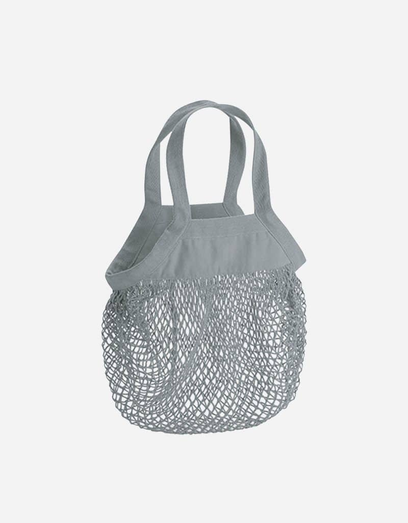 mini baumwoll netzttasche mit kurze henkel 34 x 34 cm pure grey