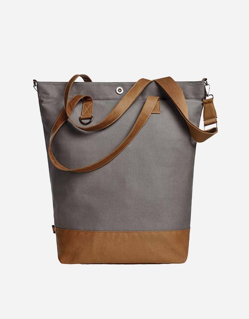 shopper life mit langen tragegriffen 44 x 45 x 16 cm grey brown