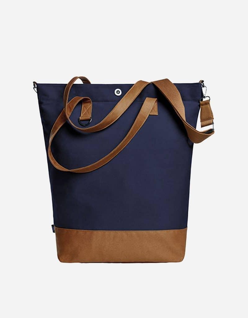 shopper life mit langen tragegriffen 44 x 45 x 16 cm navy brown