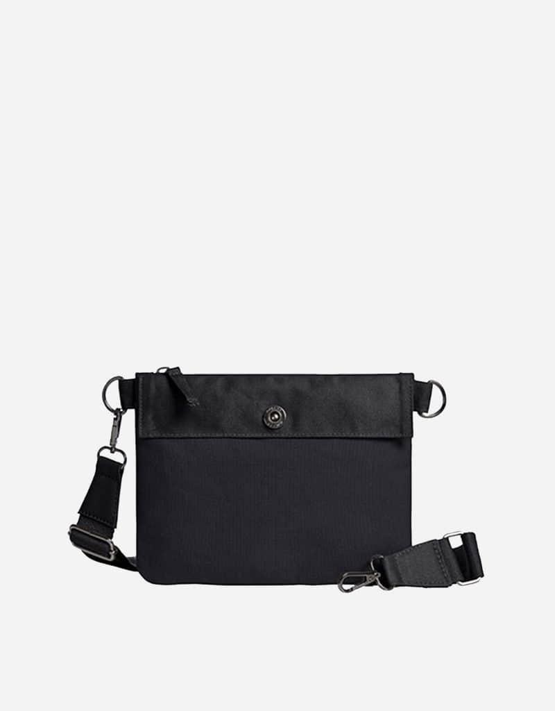 umhaengetasche mit laengenverstellbare und abnehmbare baumwoll umhaengegurt 23 x 18 x 01 cm black black