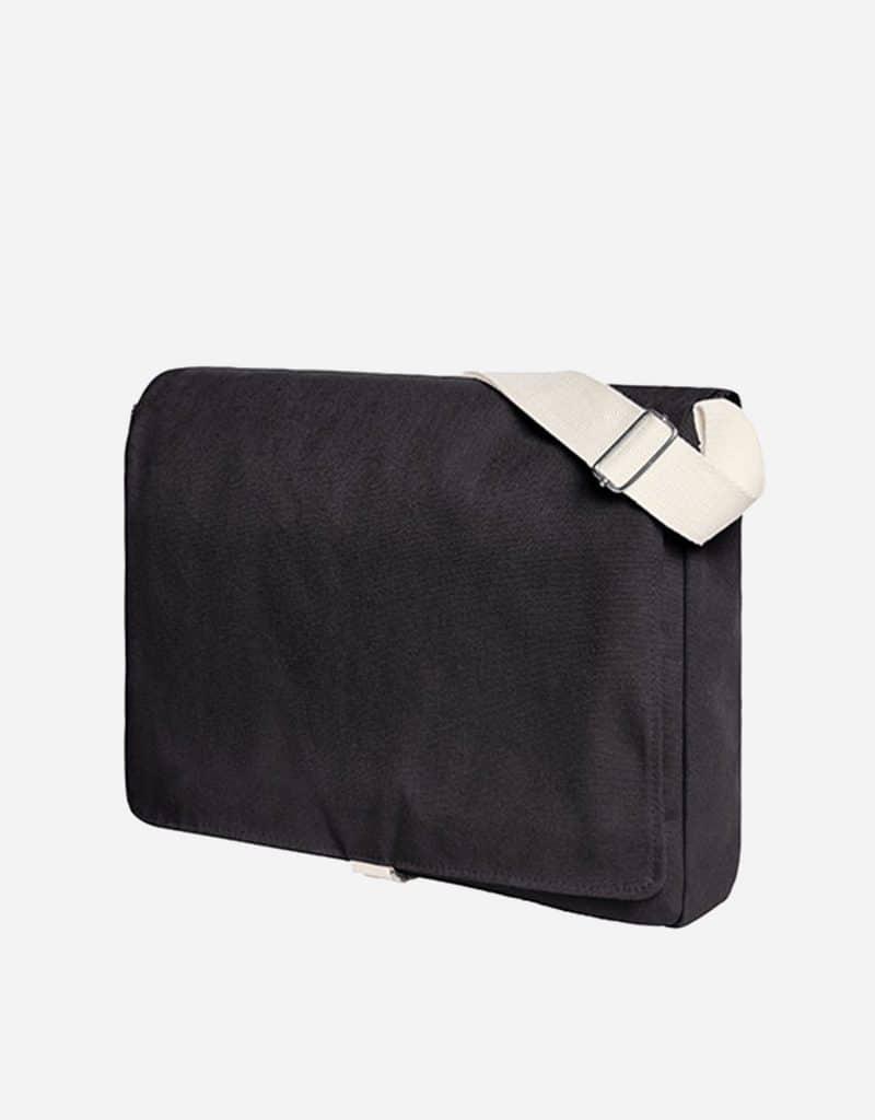 umhaengetasche mit laengenverstellbarer baumwoll schultergurt 37 x 31 x 7 cm black
