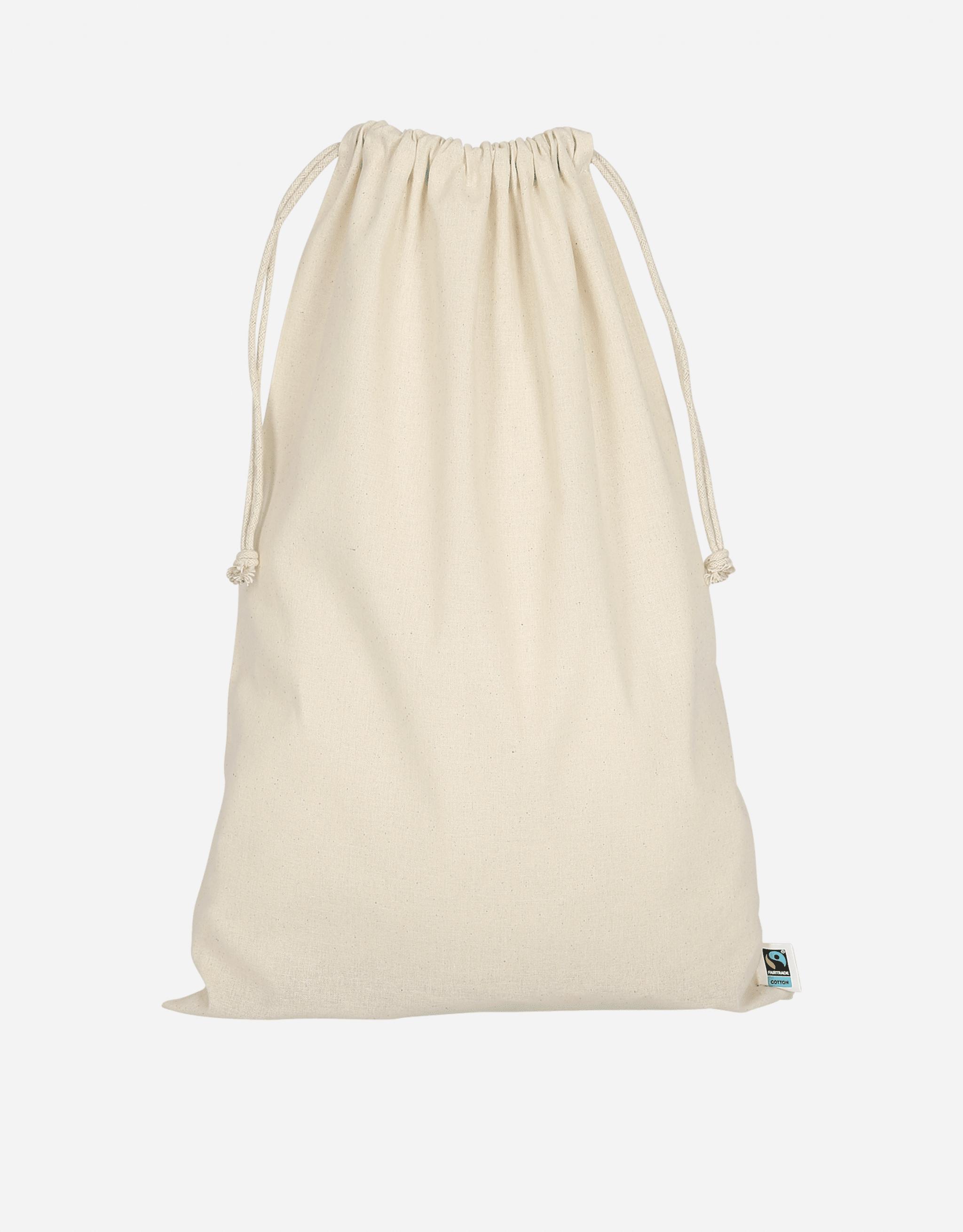 zuziehbeutel fairtrade baumwolle natur l 30 x 45 cm