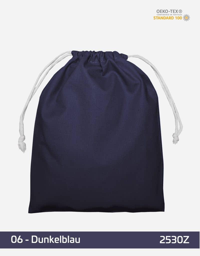 zuziehbeutel m 25 x 30 dunkelblau