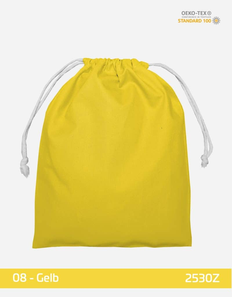 zuziehbeutel m 25 x 30 gelb