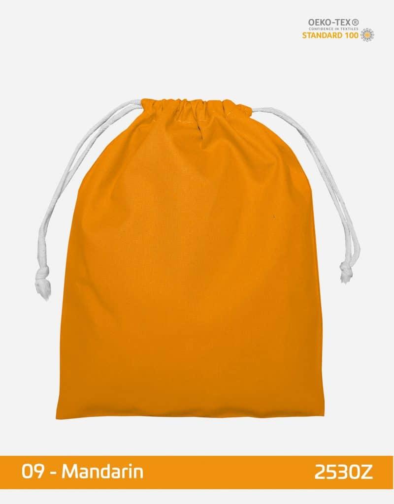 zuziehbeutel m 25 x 30 mandarin