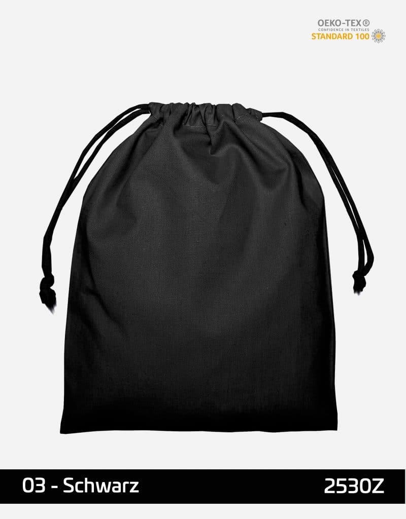 zuziehbeutel m 25 x 30 schwarz