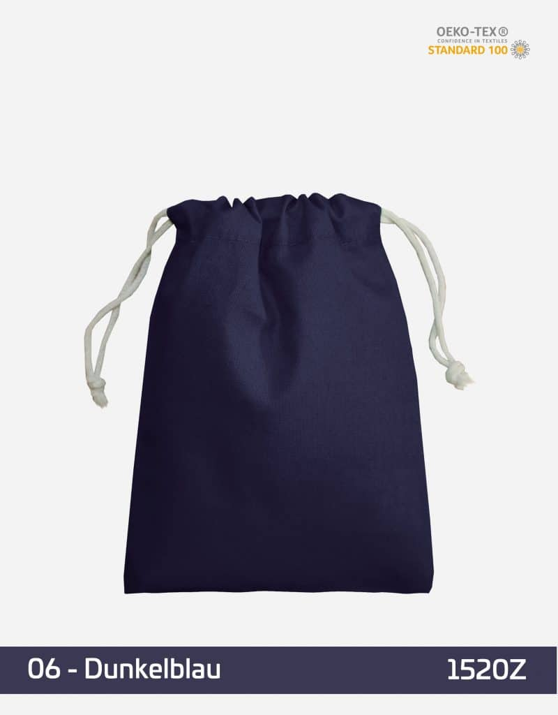 zuziehbeutel s 15 x 20 dunkelblau