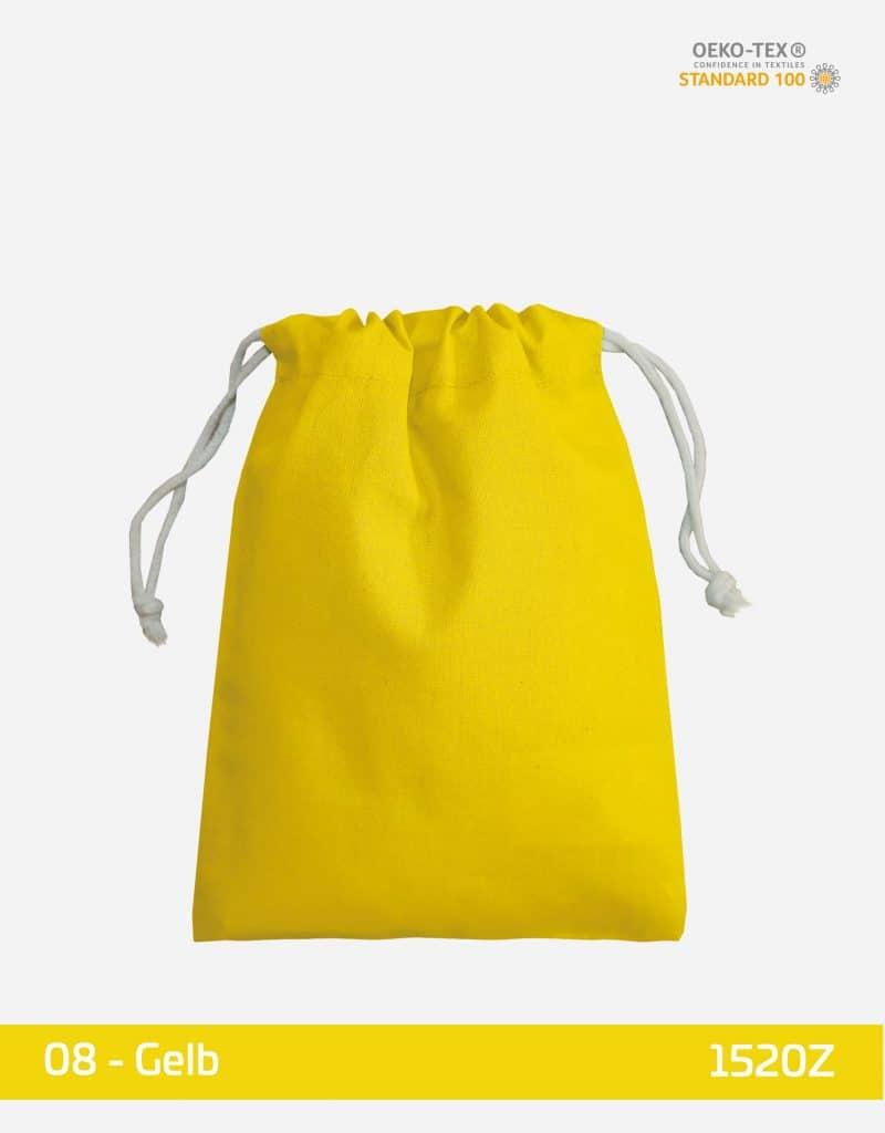 zuziehbeutel s 15 x 20 gelb